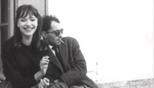 Anna Karina and Jean-Luc Godard